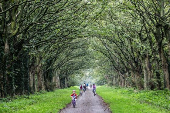 Cyclists Take In One Of The Leverhulme Estate Tracks
